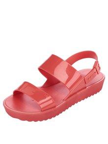 Červené sandály na platformě Zaxy