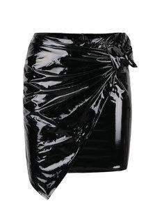 Černá lesklá sukně s uzlem TALLY WEiJL