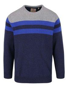 Šedo-modrý svetr s pruhy JP 1880