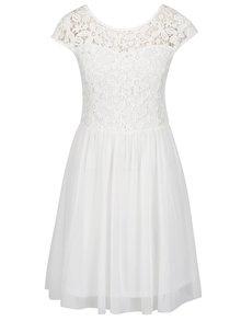Krémové šaty s krajkovým topem ONLY Crochetta