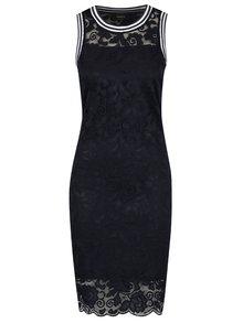 Tmavě modré krajkové šaty bez rukávů s detaily ONLY Gwen