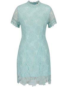 Zelené čipkované šaty s krátkym rukávom AX Paris