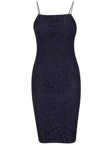 Tmavomodré šaty s tenkými ramienkami AX Paris