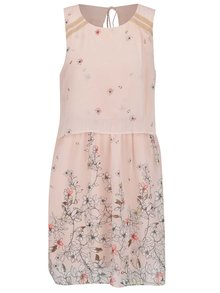 Rochie roz pal VERO MODA Lea cu imprimeu floral
