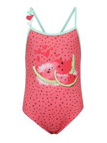 Ružové dievčenské jednodielne plavky Bóboli