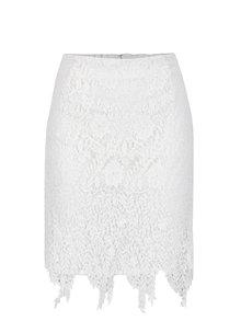 Krémová čipkovaná sukňa VERO MODA Flora
