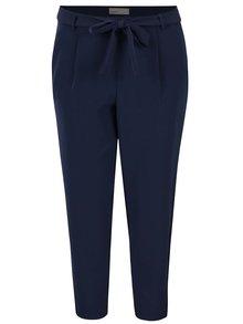 Tmavě modré volné kalhoty s páskem VERO MODA Mags