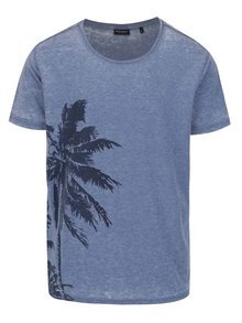 Modré pánske tričko s potlačou Broadway Fulton