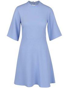 Světle modré šaty s volným 3/4 rukávem Closet