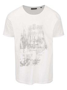 Krémové pánske oversize tričko s potlačou Broadway Damian