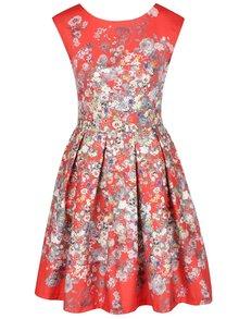 Rochie roșie Closer cu imprimeu floral