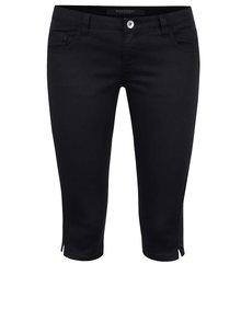 Černé dámské 3/4 kalhoty s příměsí juty Broadway Kenzie