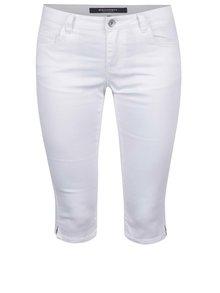 Biele dámske ¾ nohavice s prímesou juty Broadway Kenzie