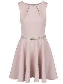 Béžové šaty s páskem Closet
