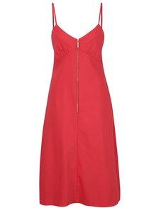 Rochie roșie Closet cu bretele subțiri