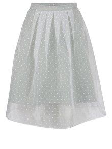 Krémovo-zelená puntíkovaná sukně Miss Selfridge Petites