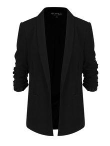 Černé sako s 3/4 rukávy Miss Selfridge