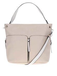 Béžová kabelka s ozdobnými zipy Miss Selfridge