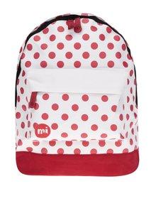 Červeno-krémový dámsky bodkovaný batoh Mi-Pac All Polka 17l