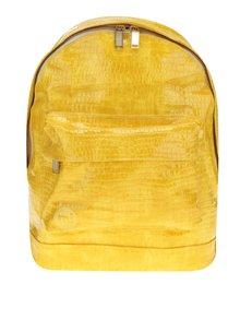 Žltý dámsky batoh s imitáciou krokodílej kože Mi-Pac Patent python 17l
