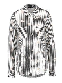 Černo-krémová pruhovaná košile s kapsami TALLY WEiJL