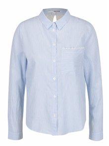 Krémovo-modrá košile s krajkou na zádech TALLY WEiJL