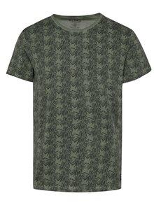 Tmavě zelené vzorované triko Blend