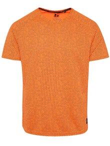 Oranžové vzorované tričko Blend