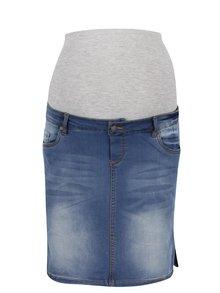 Modrá rifľová tehotenská sukňa Mama.licious Ninety