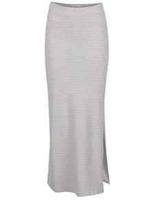Fustă lungă gri & roz VILA Honesty cu model în dungi
