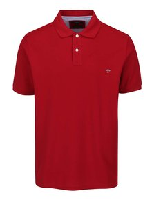 Tricou polo roșu Fynch-Hatton din bumbac cu logo