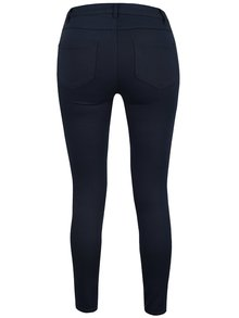 Tmavě modré zkrácené slim fit kalhoty VILA Commit
