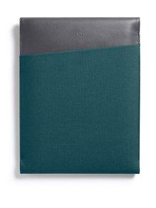 """Husă verde & gri Bellroy Laptop Sleeve Extra 13"""" cu detalii din piele"""