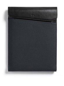 """Husă negru & gri pentru laptop Bellroy Laptop Sleeve Extra 13"""" cu detalii din piele"""