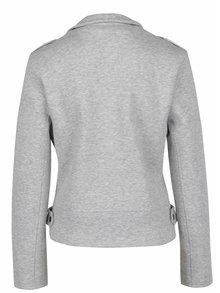 Jachetă gri deschis biker din material textil ONLY New