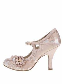 Pantofi cu toc roz Ruby Shoo Yasmin cu detaliu decorativ