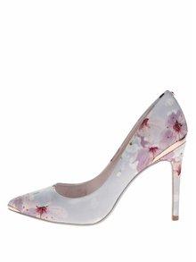 Pantofi stiletto bleu Ted Baker Kawaap cu model floral
