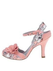 Pantofi cu toc roz Ruby Shoo Heidi cu imprimeu floral