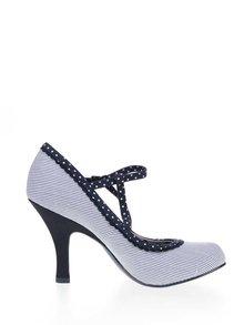 Pantofi cu toc albaștri Ruby Shoo Jessica cu model cu dungi