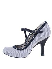 Pantofi cu toc albastri Ruby Shoo Jessica cu model cu dungi