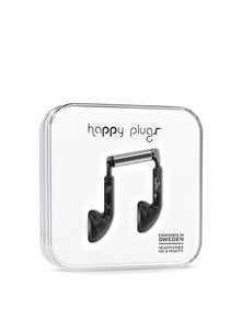 Căști earbud negre Happy Plugs
