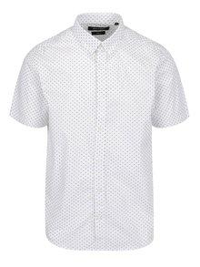 Bílá vzorovaná slim fit košile s krátkým rukávem ONLY & SONS Cavani