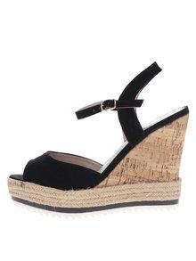 Čierne sandále na klinovom podpätku Dorothy Perkins