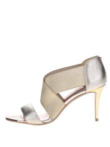 Sandály na podpatku ve zlaté barvě Ted Baker Leniya