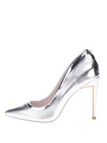 Pantofi stiletto argintii din piele Ted Baker  Sayu