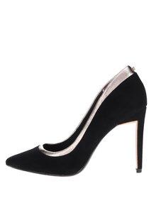 Pantofi negri stiletto Ted Baker Sayu din piele întoarsă