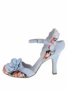 Pantofi cu toc albaștri Ruby Shoo Heidi cu imprimeu floral