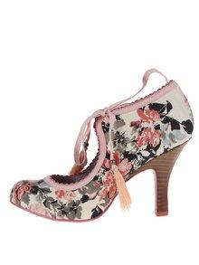 Růžové květované lodičky se zavazováním Ruby Shoo Willow