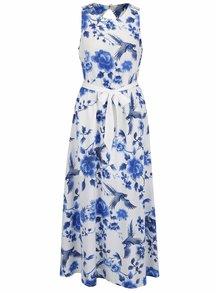 Rochie alb&albastru fără mâneci Dorothy Perkins cu model floral