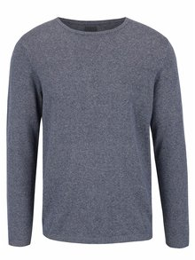 Modrý melírovaný sveter Bertoni Lukas